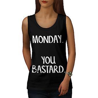El lunes usted bastardas mujeres BlackTank Top | Wellcoda