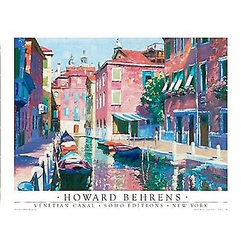 Venetian Canal Poster Print by Howard Behrens (24 x 18)