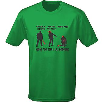 How To Kill A Zombie Gaming Mens T-Shirt 10 Colours (S-3XL) by swagwear
