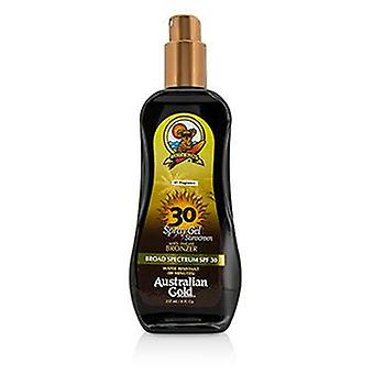Spray Gel Sunscreen Broad Spectrum SPF 30 with Instant Bronzer - 237ml/8oz