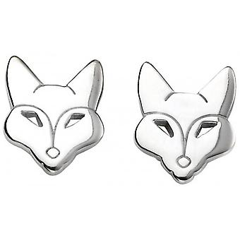 Beginnings Fox Stud Earrings - Silver