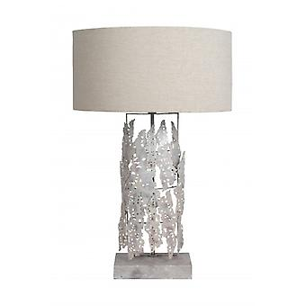 Table lamp night table lamp handcrafted lamp desk lamp silver