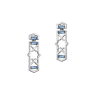 Элементы дизайна синий кристалл серьги Сваровски