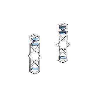 Design Elements blue Swarovski crystal earrings