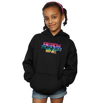 Ready Player One Girls Rainbow Logo Hoodie