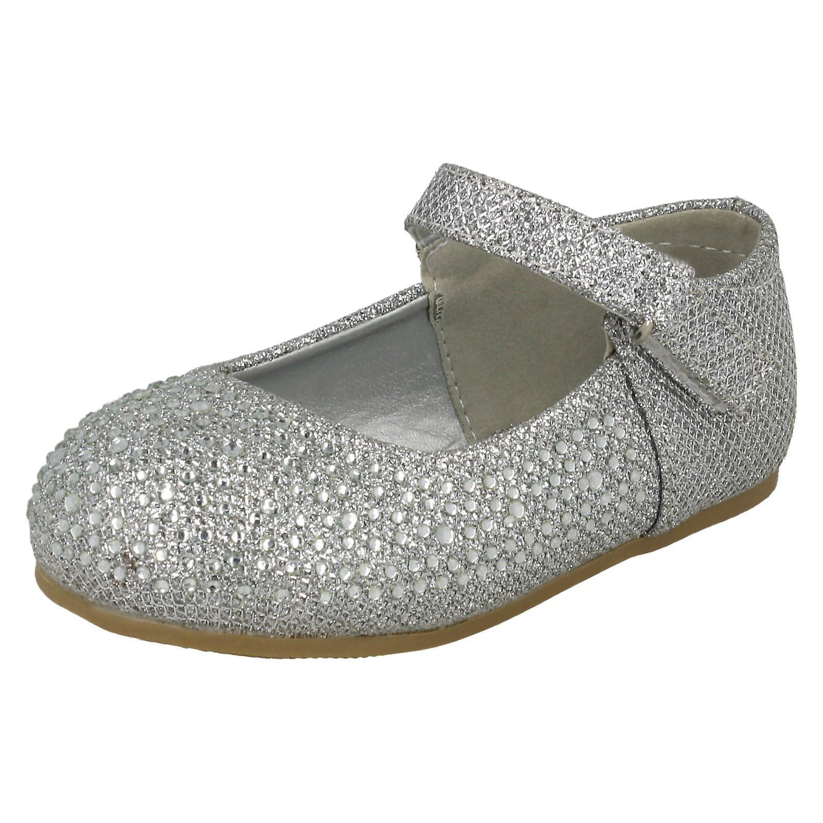 Mädchen Savannah flache Diamante Schuhe H2438