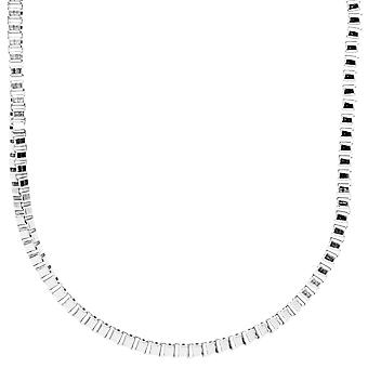Iced Out Bling Fashion SLIM Box Kette - 4mm silber