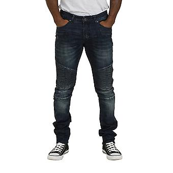 Skinny Fit Mens Jeans - Stonewash Slim fit Denim med stræk