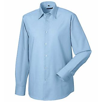Russell Collection Long Sleeve Easycare Tailored Oxford Shirt