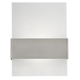 Eglo Nadela White Glass And Stainless Steel LED Wall Light
