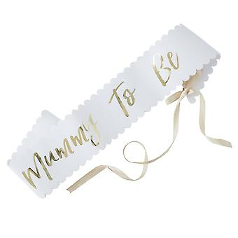 Gold Foiled MUMMY TO BE SASH Baby Shower Oh Baby Party
