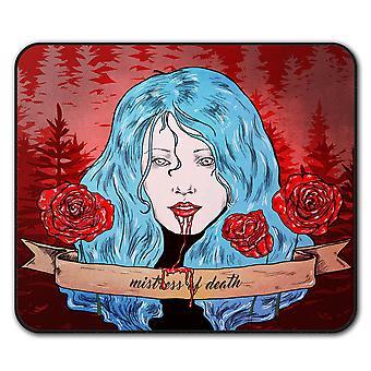 Крови Роза страшный ужас не нескользкие мыши коврик коврик 24 см х 20 см   Wellcoda