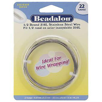 Stainless Steel Wrapping Wire Half Round 22 Gauge 15 Meters Pkg Ww180 S122