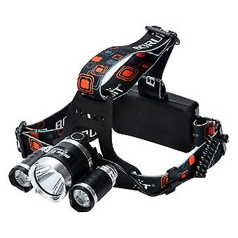 3 CREE XM-L T6 LED Head Lamp - 3800 Lumens, 4 Lighting Modes, Adjustable Head Strap, Battery Charger, Weatherproof