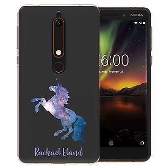 Nokia 6 (2018) blå Unicorn personlig TPU bærevesken