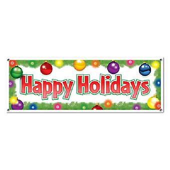 Happy Holidays tegn Banner 5' x 21