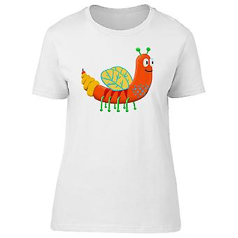 Funny Orange Worm Monster Doodle Tee Women's -Image by Shutterstock