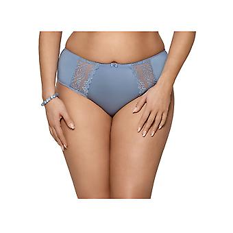 Gorsenia K434 Women's Paloma Light Blue Solid Colour Knickers Panty Full Brief