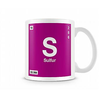 Element Symbol 016 S - Sulfer Printed Mug
