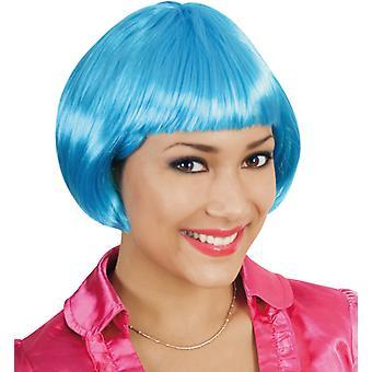 Party wig cats blue Bob pony short