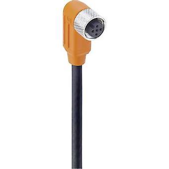 Sensor/actuator connector (pre-fab) M12 Socket, right angle 5 m