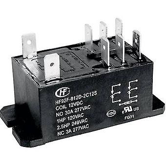 Plug-in relay 240 V AC 30 A 2 change-overs Hongfa