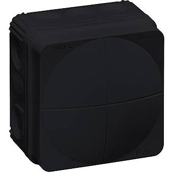 Junction box (L x W x H) 76 x 76 x 51 mm Wiska 10061999 Black