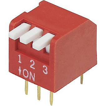 DIP-Switch-Anzahl der pins 3 Klavier-Typ TRU Komponenten DP-03-1 PC