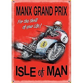 Isle Of Man, Max Grand Prix kleine Stahl unterzeichnen 200 X 150 Mm