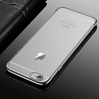Cell phone cover case for Apple iPhone 6 / 6s plus transparent transparent silver