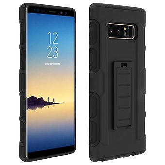 Full cover, shock-resistant case with belt clip for Samsung Galaxy Note 8- Black