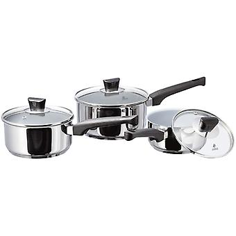 Judge Natural, 3 Piece Saucepan Set
