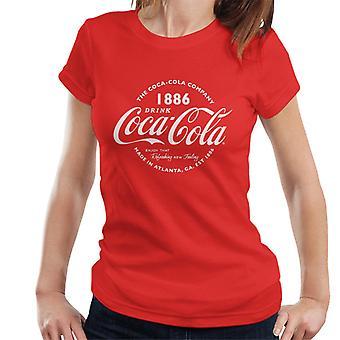 Coca Cola Retro Logo White Text Women's T-Shirt
