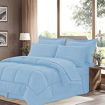 100% Cotton Comforter 5 Piece Set-light Blue