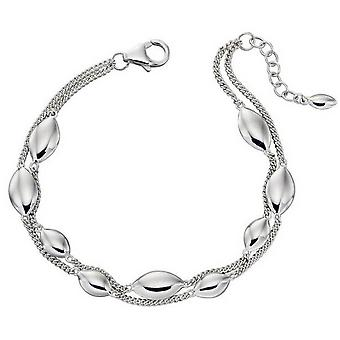 Elements Silver Double Strand Marquise Bracelet - Silver