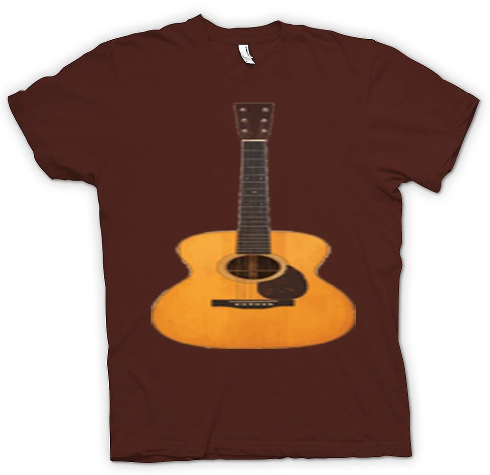 Mens T-shirt - Acoustic Guitar Rock & Roll