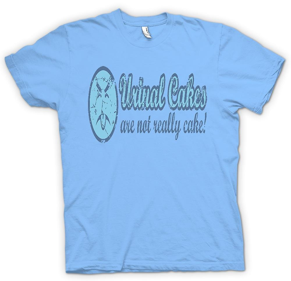 Mens T-shirt - Urinal Cakes Are Not Really Cake - Funny