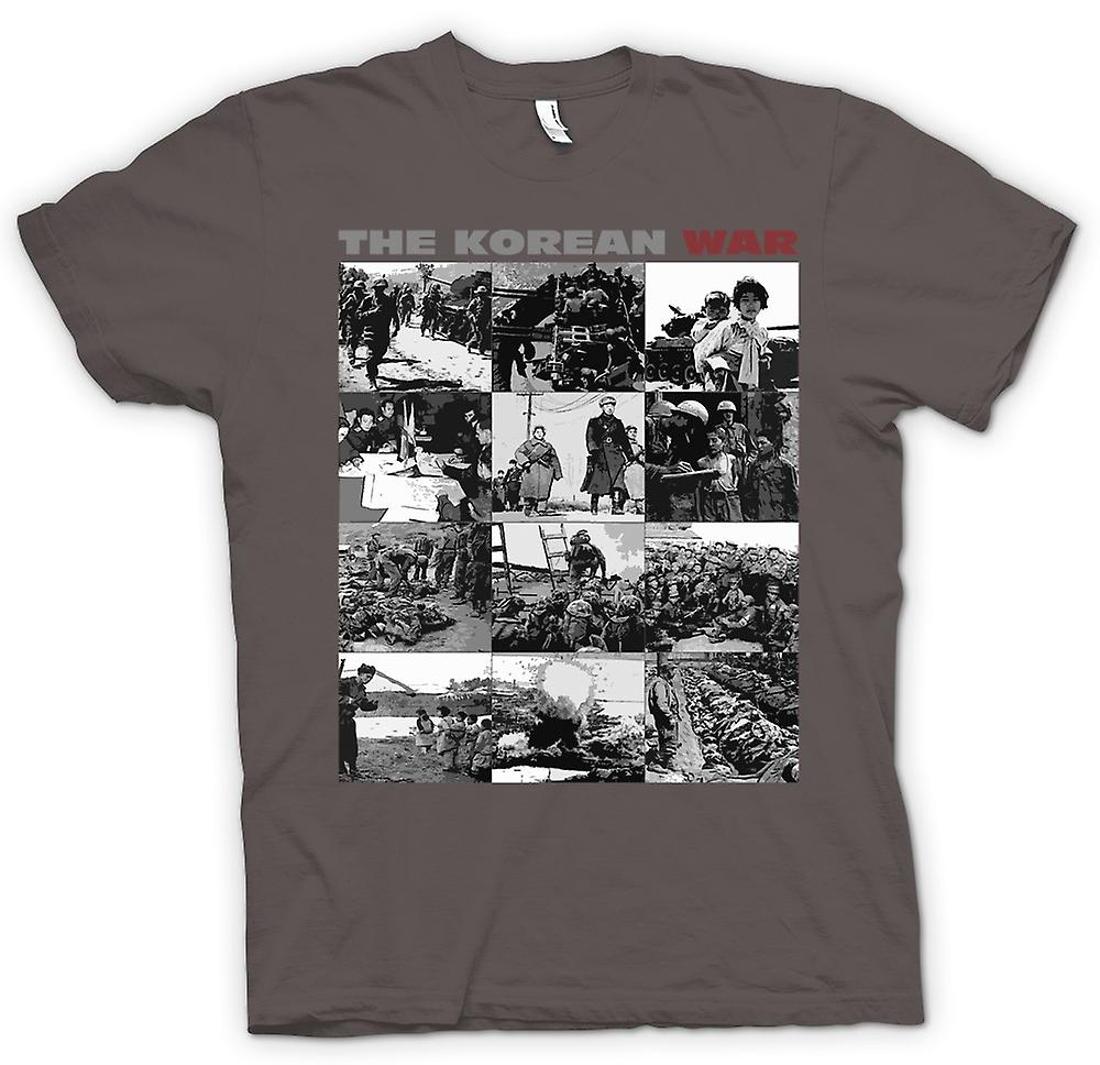 Womens T-shirt - The Korean War - US v Korea Black and White Images