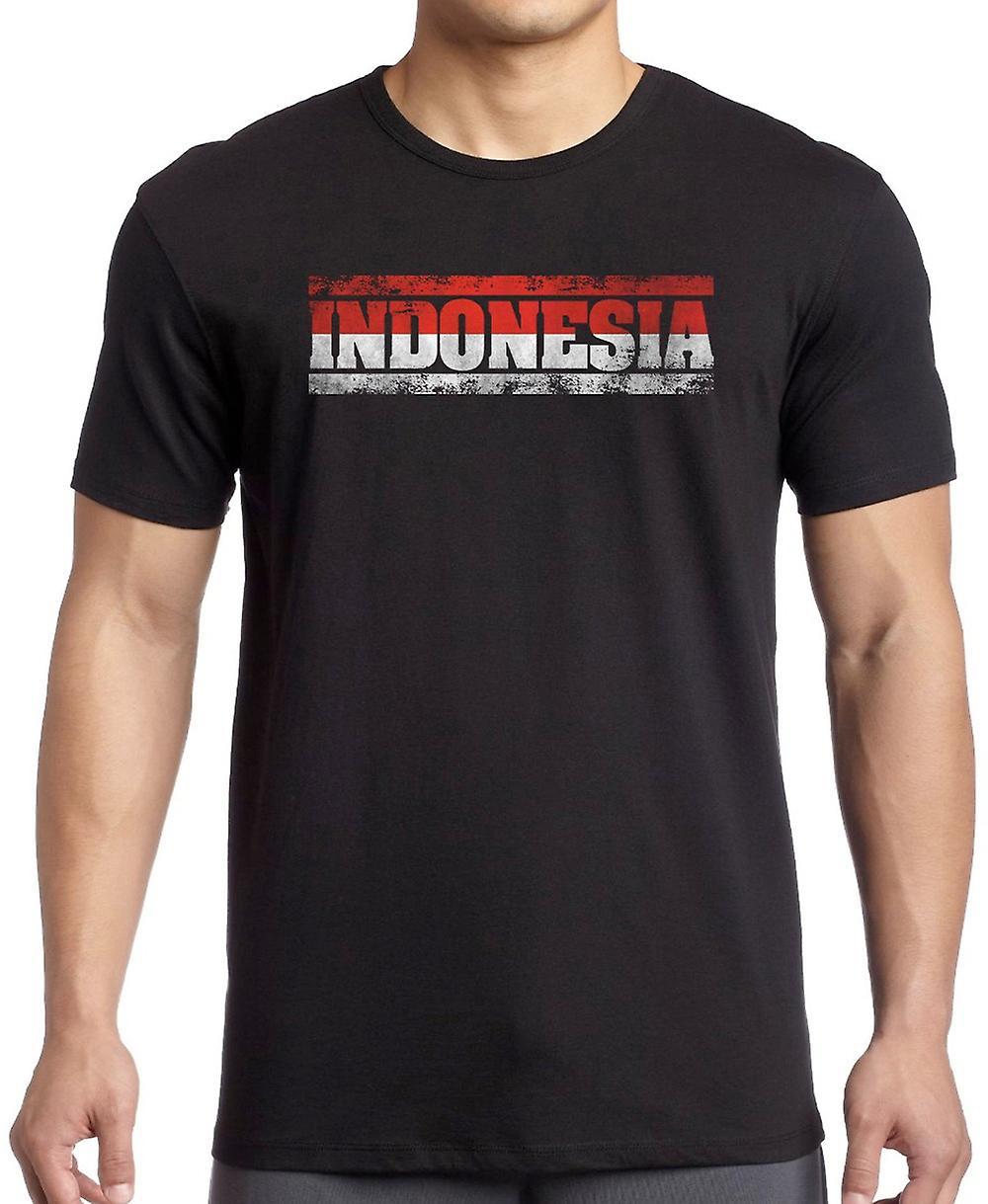 Indonesia indonesisk flagg - ord Kids T skjorte