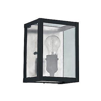 Ideal Lux - luz de pared de Igor negra con cristal placas IDL092836