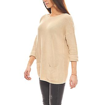 B.C.. best connections loose 3/4 sleeve Cardigan with pockets beige