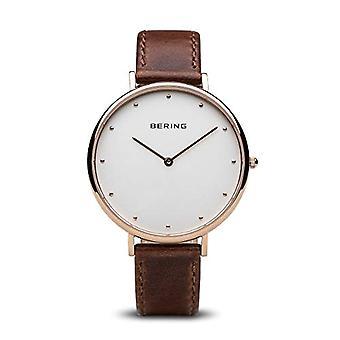 Bering Quartz analogue watch with leather bracelet 14839-564