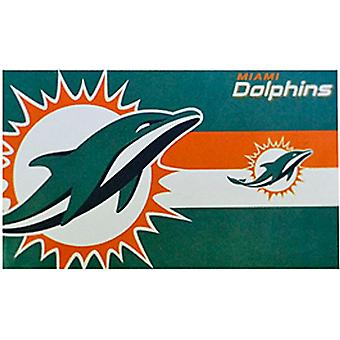 Miami Dolphins NFL large licensed nylon flag 1500mm x 900mm   (spg)