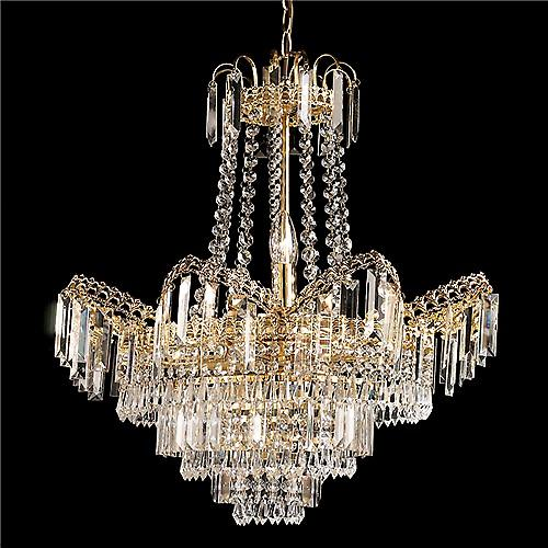 Endon 96819-GO Adagio Elegant Chandelier With Clear Beads And Droplets