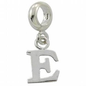 Toc Beadz Sterling Silver Dangle Initial E 2mm Slide-on Bead
