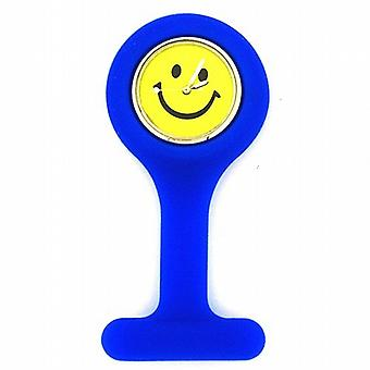 Boxx unisexe bleu Smiley Face Infection Control Gel professionnel montre à gousset Boxx05