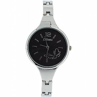 The Olivia Collection Ladies Black Dial Bracelet Strap Dress Watch COS27