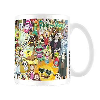 Rick and Morty Characters Coffee Mug