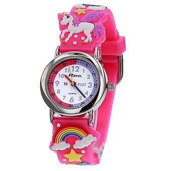 Ravel Time Teacher 3D Unicorn Hot Pink Strap Watch + TELLING TIME AWARD R1513.79
