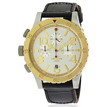 Nixon Chronograph Leather Mens Watch A3631884
